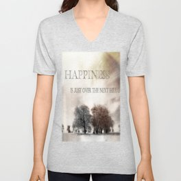 Happiness Unisex V-Neck