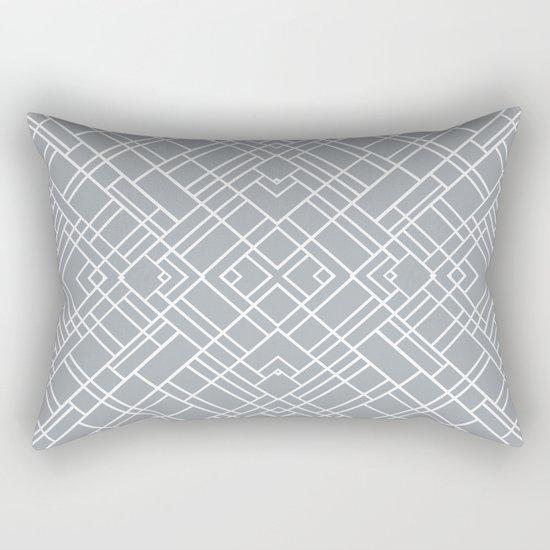 Map Outline 45 Grey Repeat Rectangular Pillow