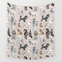 Poodles Wall Tapestry