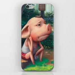 Sufferer Pig iPhone Skin