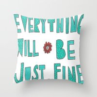 reassurance Throw Pillows featuring Reassurance  by Jenna Elise