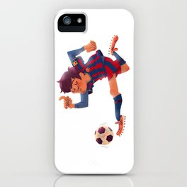 Lionel Messi, Barcelona Jersey iPhone Case