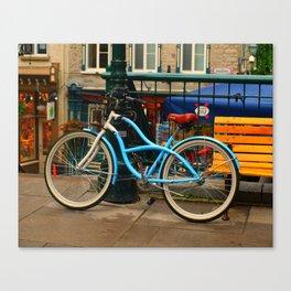 I love my blue bike Canvas Print
