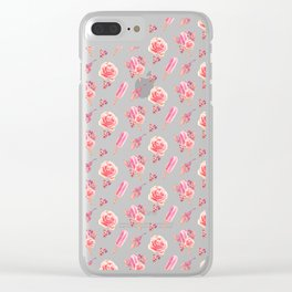 Floral Chill Clear iPhone Case
