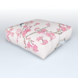 Birds and cherry blossoms Outdoor Floor Cushion