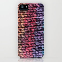 Rainbow Stitches iPhone Case