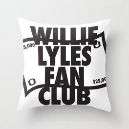 Willie Lyles Fan Club Throw Pillow