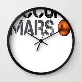 Occupy Mars - Space Planet - SpaceX Wall Clock