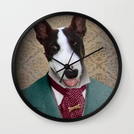 Bull Terrier Dog - Magnum Wall Clock