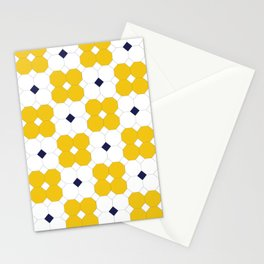 Yellow Octagons  Stationery Cards