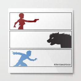 Artemis Hood - 3 Panels Metal Print