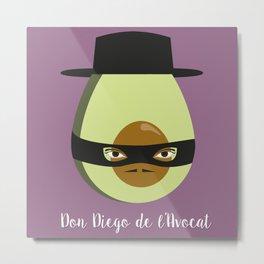 Don Diego de l'Avocat Metal Print