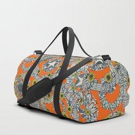 cirque fleur orange stone star Duffle Bag