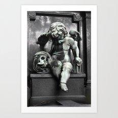Cherub With Skull Art Print