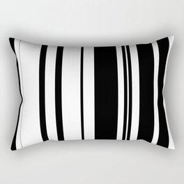 Black and white stripes 1 Rectangular Pillow