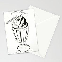 Doble straw, doble love Stationery Cards