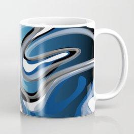 Liquify in Denim, Navy Blue, Black, White // Version 2 Coffee Mug
