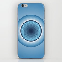 Flower of Life blue 2 iPhone Skin