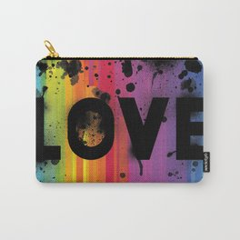 For Love - Black Background Carry-All Pouch
