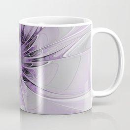 Lilac Fantasy Flower, Fractal Art Coffee Mug