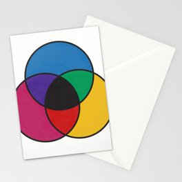 Matthew Luckiesh: The Subtractive Method of Mixing Colors (1921), re-make, interpretation Stationery Cards