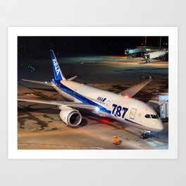 All Nippon Airways - ANA Boeing 787-8 Dreamliner Art Print