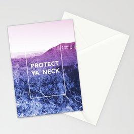 Protect ya neck Stationery Cards