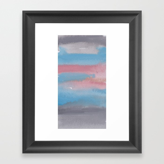 12 1903011 Watercolour Abstract Painting Muted Colours Framed Art Print By Valourine