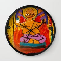 simpson Wall Clocks featuring Simpson by Samantha Sager