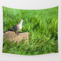 pigeon Wall Tapestries featuring pigeon by Marcel Derweduwen