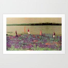 Lake Girl Art Print