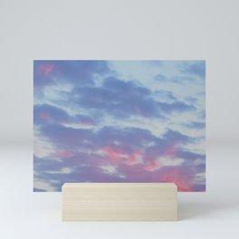 Evening sky Mini Art Print