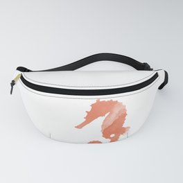 Watercolor Seahorse Fanny Pack