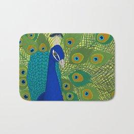 Peacock in Colour Bath Mat