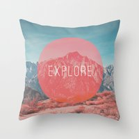 explore Throw Pillows featuring Explore by Zeke Tucker