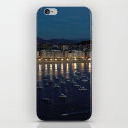 Night view of Donostia-San Sebastian. Spain. iPhone Skin