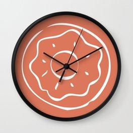 Caramel Town - Red Dotty Wall Clock