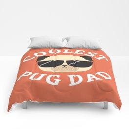 Coolest Pug Dad Comforters