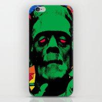 frankenstein iPhone & iPod Skins featuring Frankenstein by Sellergren Design - Art is the Enemy