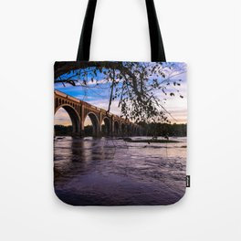 As The Train Goes By Tote Bag