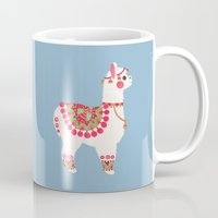 alpaca Mugs featuring The Alpaca by haidishabrina