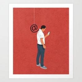 Phishing Art Print