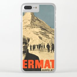 Vintage poster - Zermatt Clear iPhone Case