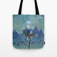 jack frost Tote Bags featuring Jack Frost by Serena Rocca