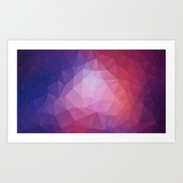 Purple Crystals Art Print
