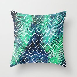 Tribal Tropical Throw Pillow