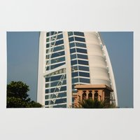 arab Area & Throw Rugs featuring Dubai - Burj Al Arab by gdesai