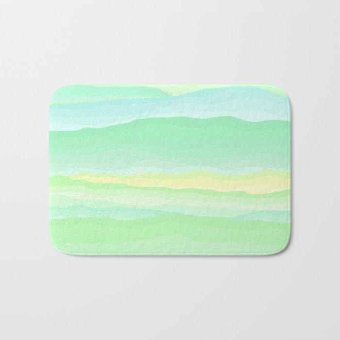 Mint Aqua Rolling Hills Bath Mat