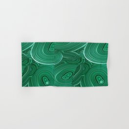 Green Malachite Nature Pattern Design Abstract Hand & Bath Towel