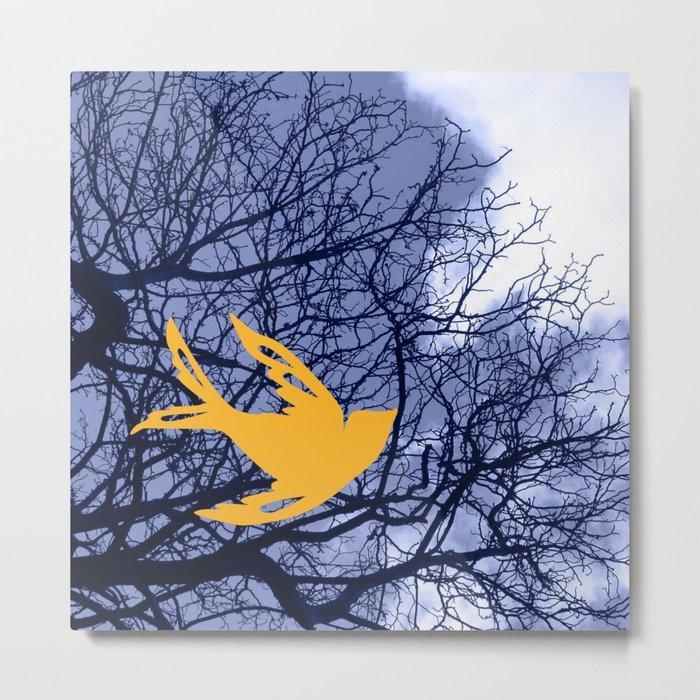 golden bird Metal Print